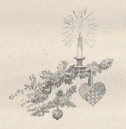 Et flettet julehjerte på træets gren, 1895
