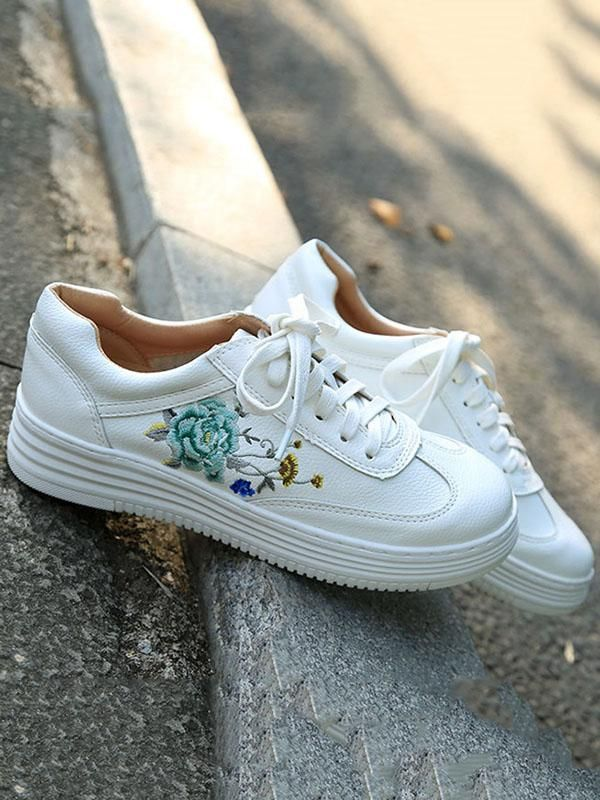 Embroidered Floral Sneaker Shoes in 2019  78a01c482