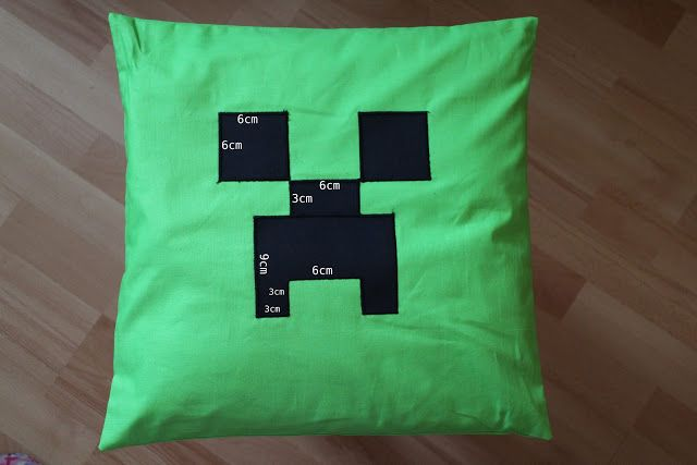 edu-mata: Poduszki creeper - minecraft, creeper pillow, minecraft sew,