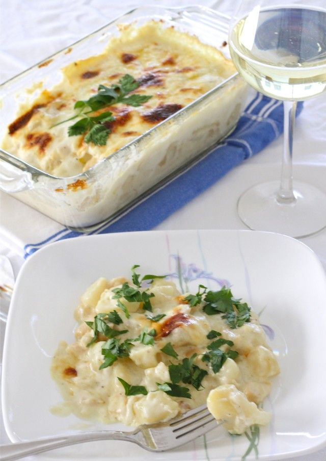 Salted Cod with Cream (Bacalhau com Natas)