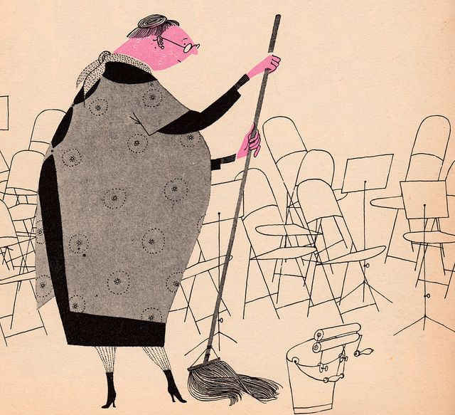 """From """"What Makes an Orchestra,"""" written & illustrate by Jan Balet in 1965."""