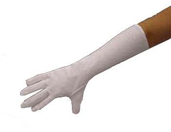 Lange witte handschoenen polyester  Witte lange handschoenen voor bijvoorbeeld bij een Sinterklaas of Kerstman kostuum. De lengte van de witte lange handschoenen is ongeveer 40 cm. Gemaakt van polyester.  EUR 4.95  Meer informatie  #sinterklaas #zwartepiet