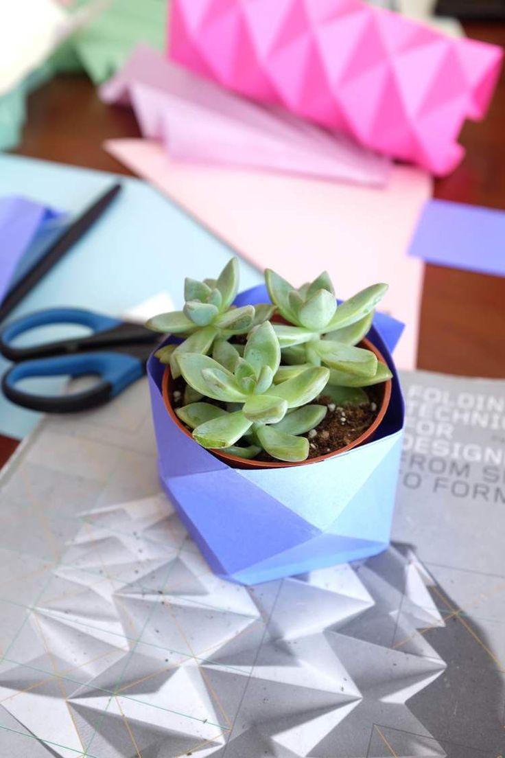 miss cloudy origami planter workshop atelier braincamp camp creatif creative retreat