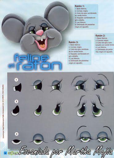 Modelo ojos ratón - mouse eyes foamy