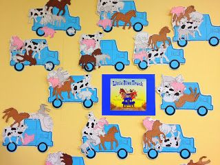 Preschool Ideas For 2 Year Olds, Little Blue Truck, preschool farm theme, preschool literature, farm animal collage