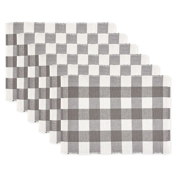 Gray And White Buffalo Check Placemats Set Of 6 From Kirkland S Bold Pattern Design White Buffalo Placemats