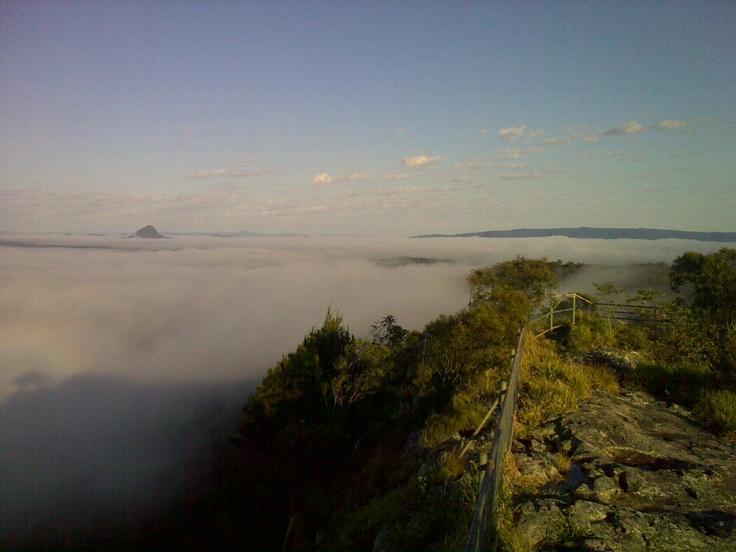Mist under Mt Tinbeerwah