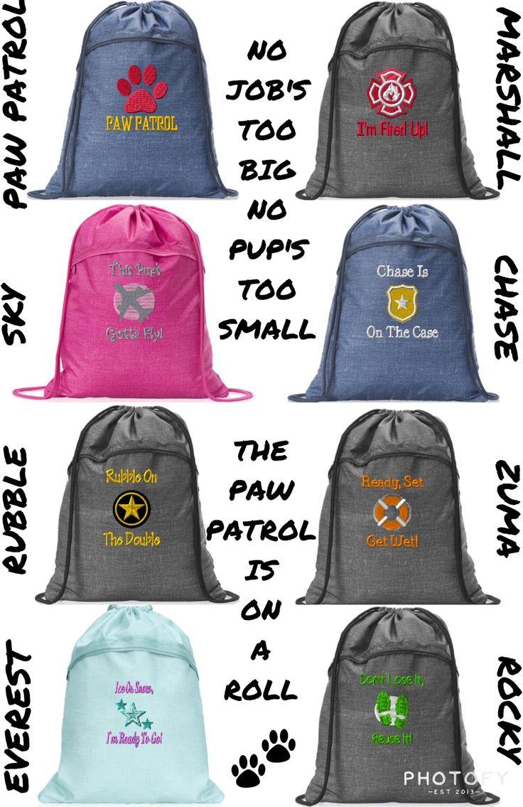 PAW PATROL cinch bags www.mythirtyone.com/valerieweddle31 follow my group on Facebook -Get organized with Valerie