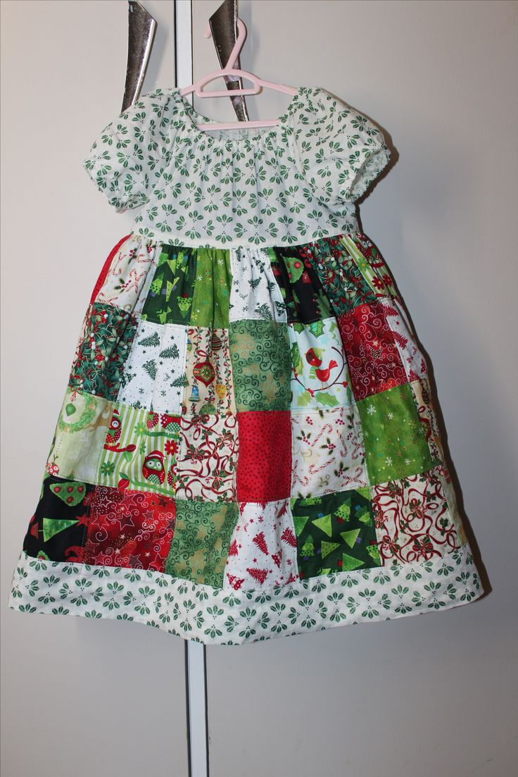 Christmas Patchwork Dress