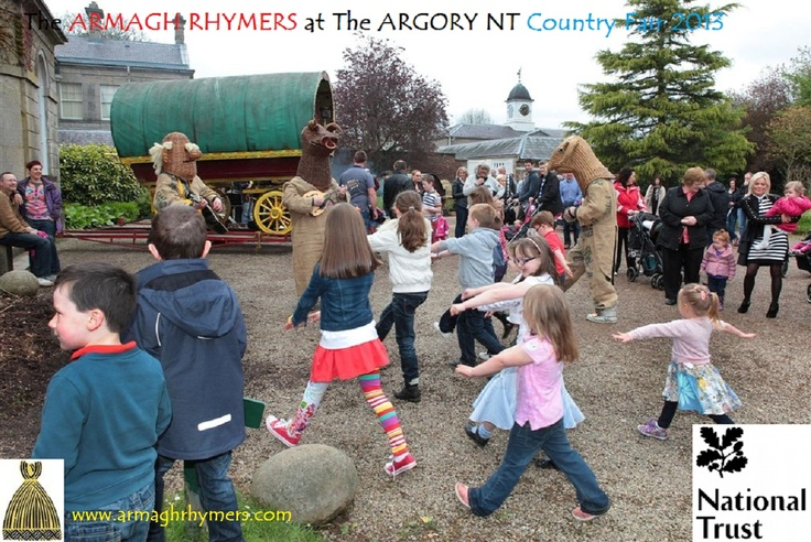 Family entertainment for National Trust Properties: The Argory, Moy, Tyrone 2013 - songs, guitar, mandolin, concertina, dancing, masks, children's theatre
