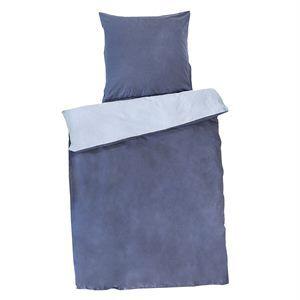 People Wear Organic Wendebettwäsche aus Baumwollsatin blau   Naturkosmetik-Shop najoba