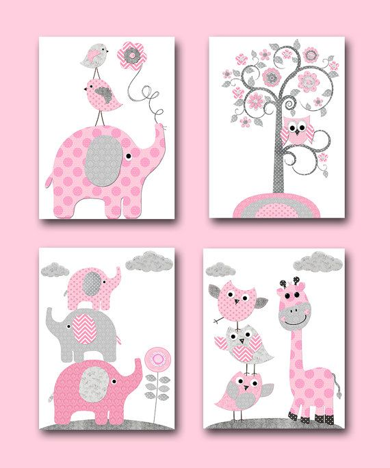 Nursery Art For Children Kids Wall Art Baby Girl Nursery Baby: Best 25+ Elephant Nursery Decor Ideas On Pinterest