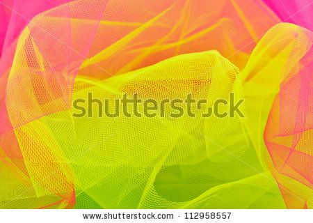 Multicolored veil - stock photo