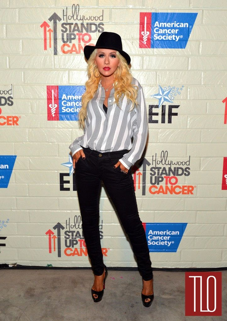 Christina Aguilera in Theory at the Hollywood Stands Up to Cancer Event | Tom & Lorenzo Fabulous & Opinionated