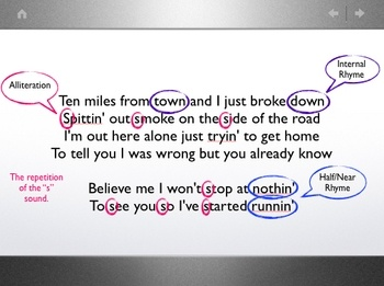 poetic analysis of song lyric The lyrics to that song, bradley says, are about the art form itself  of lyrics that  responds to transcription, explication, and analysis as poetry.
