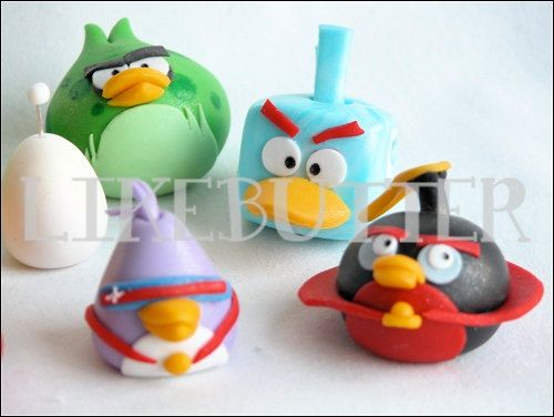 449 best angry birds images on pinterest angry birds cake bird 3d fondant space angry buddies cakecupcake toppers by likebutter voltagebd Images