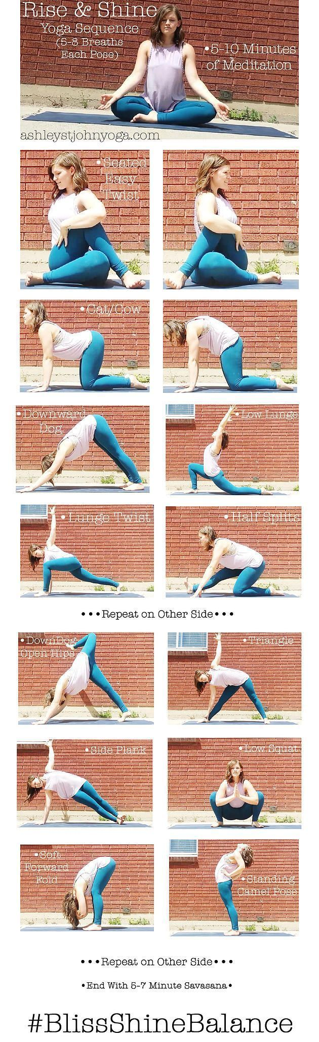 Rise & Shine AM Yoga Sequence ashleystjohnyoga.com