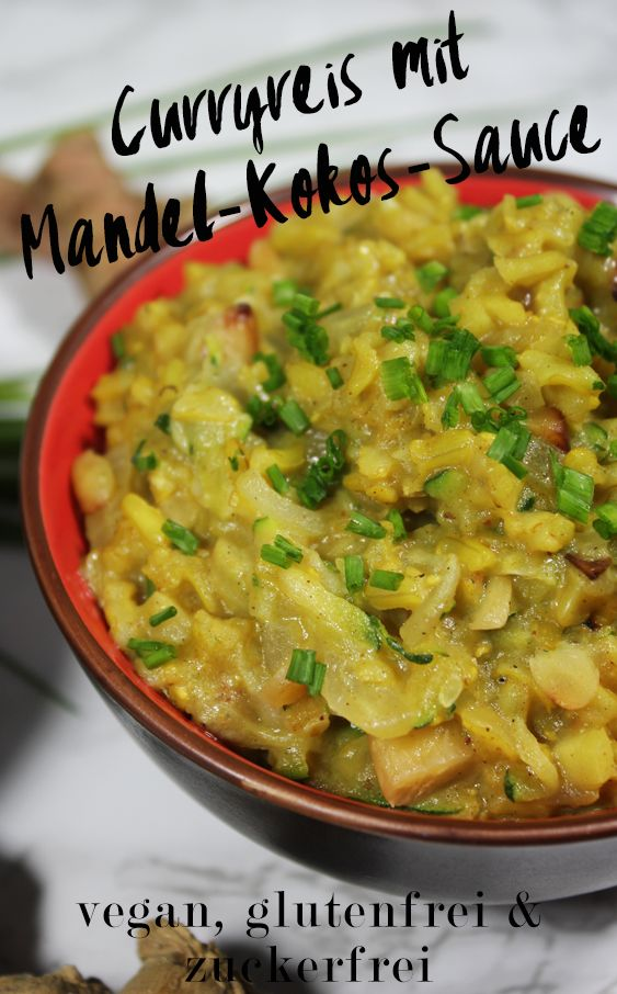 Curryreis mit Mandel Kokos Sauce Glutenfrei Vegan pala Verlag zuckerfrei 6