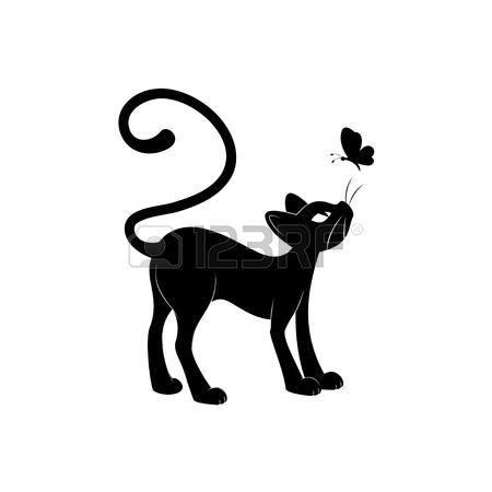 344 best images about cats on pinterest cat sitting cartoon and cat drawing - Chat noir dessin ...