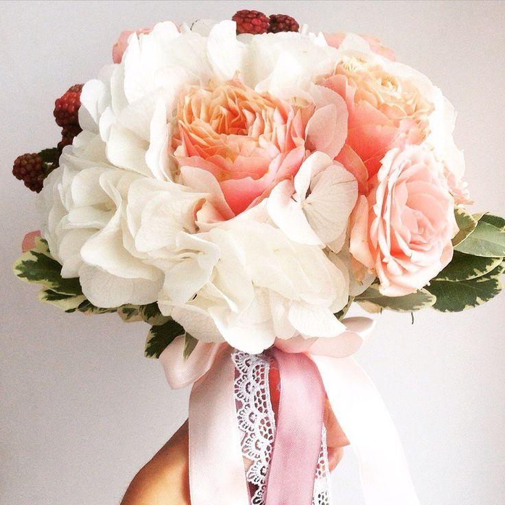 Одесса свадебный букет, роз гербер фото