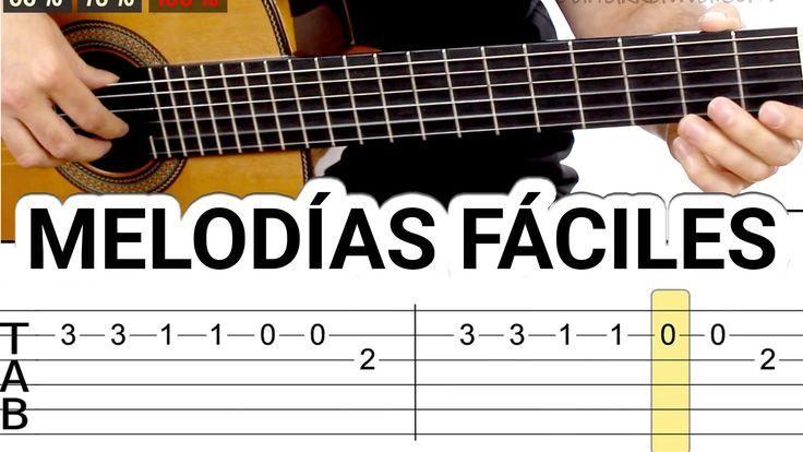 Melodías y canciones para guitarra fáciles tocar guitarra fácil acústica...