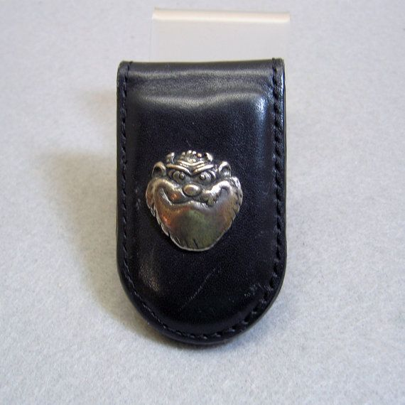 Vintage Taz the Tasmanian Devil Leather Money Clip by PandPF