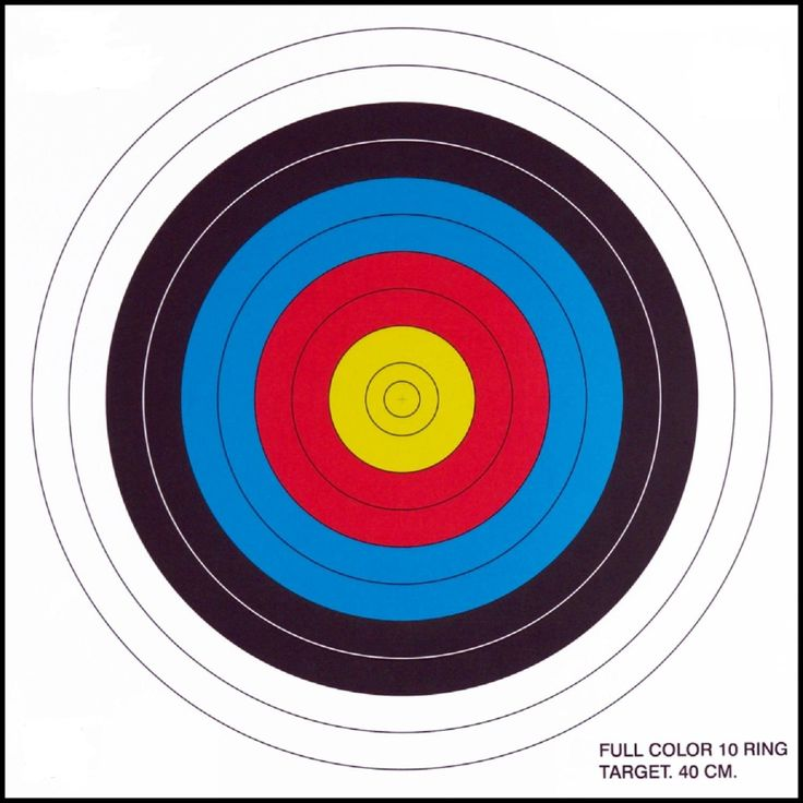 .30-06 10 Ring Paper Target 100 Count - The .30-06 Outdoors 10 ring paper target is a 40cm traditional target. Vivid colors make shooting paper more enjoyable. These 10- ring targets are padded note pad style to keep things nice and neat in the range. This is used mostly for archery but doubles well as a rifle or air gun target.
