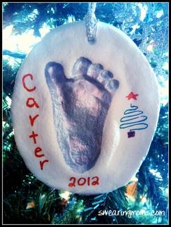 DIY Baby Footprint Keepsake Ornament