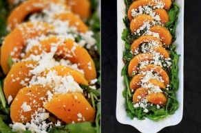 grilled sweet potatoes, cherry salsa + the side dishes » The First MessSquashes Salad, Salad Recipes, Lentils Salad, Butternut Squashes, Fall Food, Salty Sweets Butternut, Vegan Cheese, Butternut Lentils, Arugula Salad