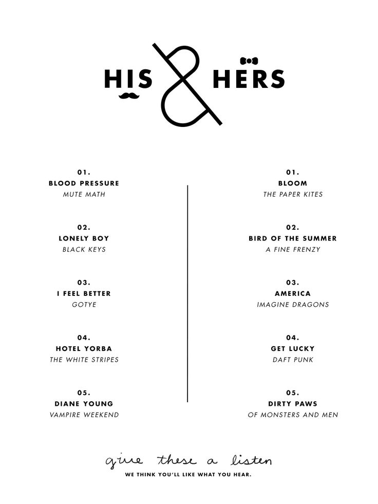 His & Hers: Road Trip Playlist