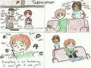 Sublimation Defense Mechanism Example
