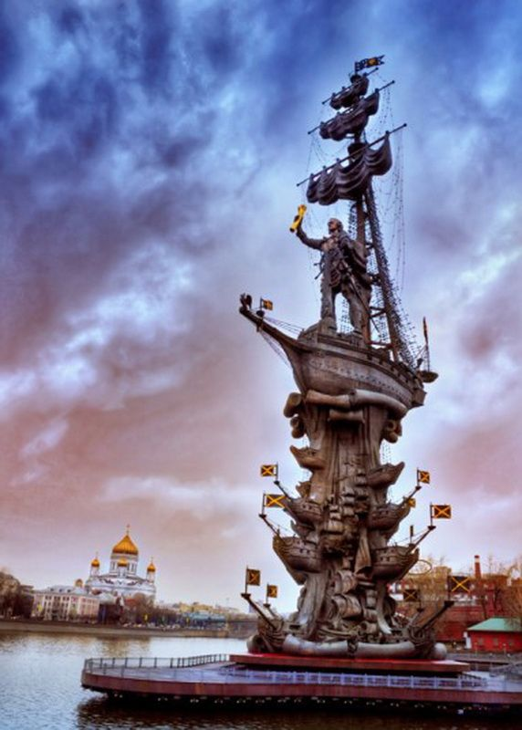 The unpopular Peter the Great Statue in Moscow. Repeatedly named one of the ugliest in the world, Moscow authorities offered to relocate the statue to St. Petersburg. The offer was declined.