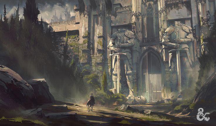 Dungeons & Dragons Curse of Strahd, Jedd Chevrier on ArtStation at https://www.artstation.com/artwork/6BZKx