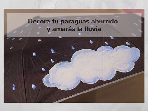 Paraguas personalizado con pintura acrílica by Pangala