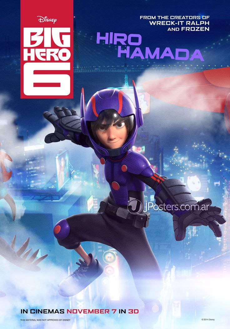 Big Hero 6 new posters !  Source : Jposters   #bighero6 #disney #marvelMovie Posters, Character Posters, Picture-Black Posters, 2014, Hiro Hamada, Cartoons Animal, Big Heroes, Bighero6 Hirohamada, Disney Big