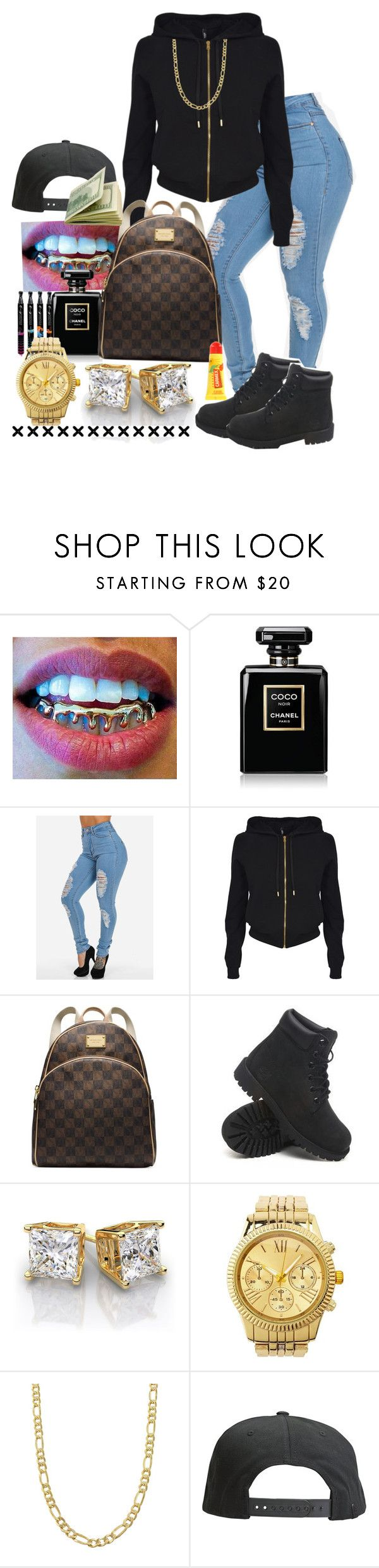 """Sumn Lite!!"" by princetonboo14312 ❤ liked on Polyvore featuring Chanel, Versus, Michael Kors, Timberland, Charlotte Russe, Fremada, Tavik Swimwear and Carmex"