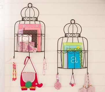 Birdcage Magazine Rack - eclectic - wall shelves - Pottery Barn Kids