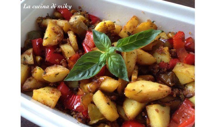 Verdure con pane croccante senza glutine BlogGz la cucina di miky