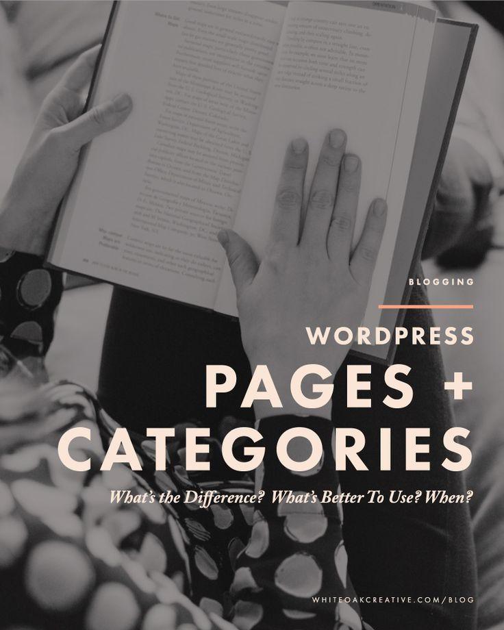 WordPress Pages + Categories: What's the difference?, blog tutorial, blogging tips, wordpress tutorial