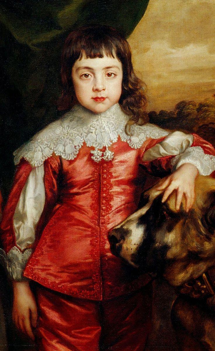 Sir Anthony van Dyck, 1637 Five Eldest Children of Charles I, (Charles.detail)