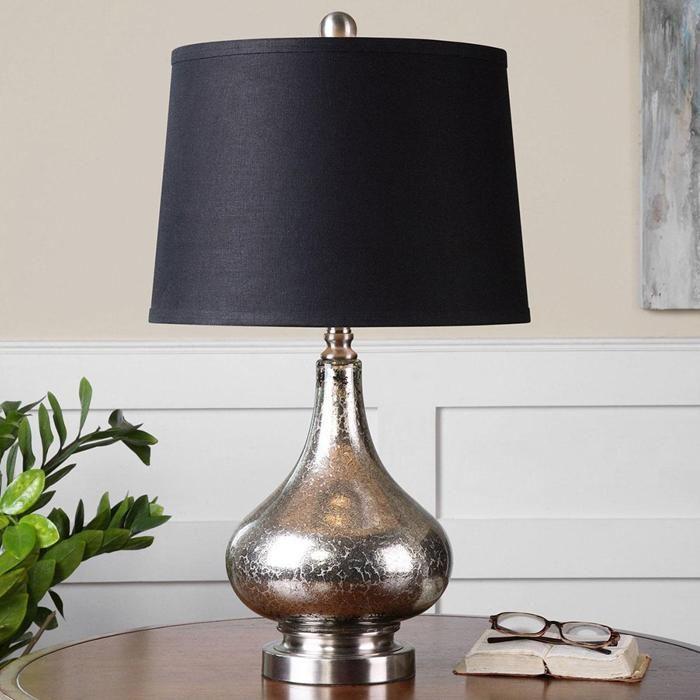 Chariton glass lamp in mottled mercury nebraska furniture mart