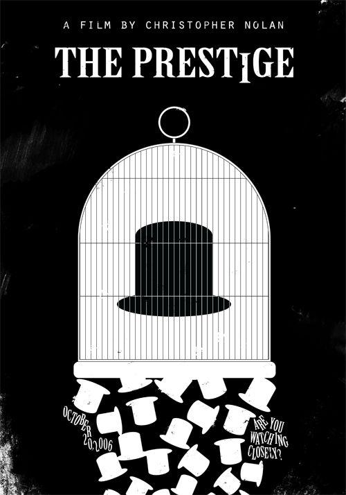 The Prestige (2006) ~ Minimal Movie Poster by Edson Muzada ~ Nolan Series #amusementphile