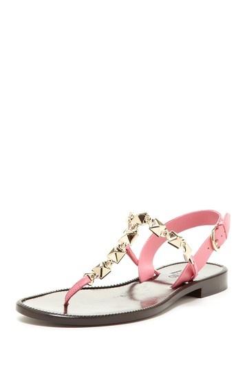 Valentino Metal Link T-Strap Sandal