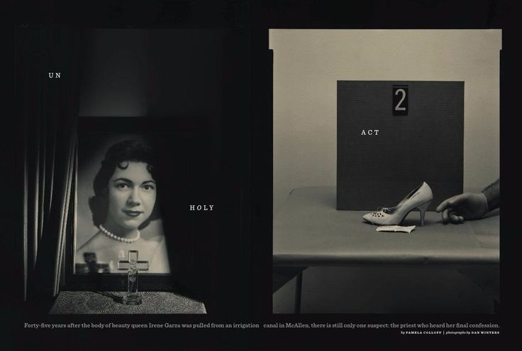 Left, Irene Garza circa 1960. Right, the high-heeled shoe was the first clue that she was dead.