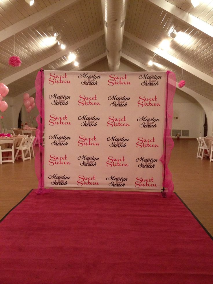 Sweet 16 Step & Repeat from Stickersbanners.com ...
