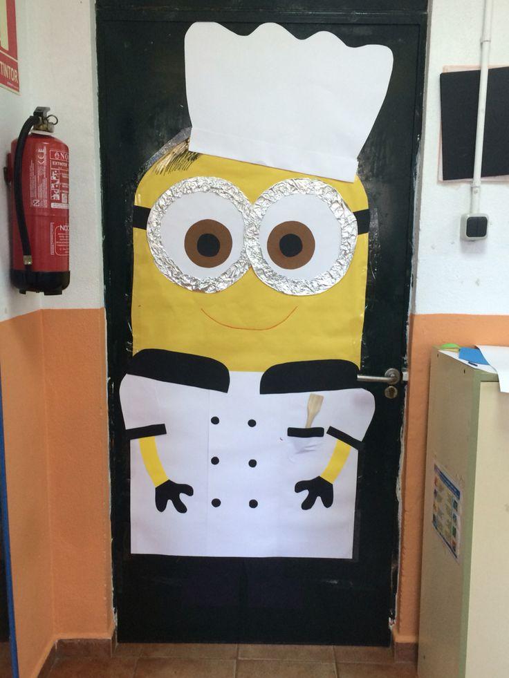 Minion cocinero para la puerta de mi clase