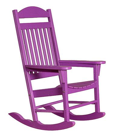 Look at this #zulilyfind! Purple Traditional Rocking Chair #zulilyfinds $259.99