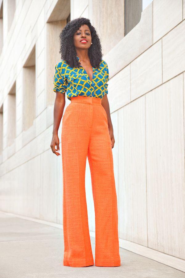 Stella Jean Printed Shirt + Roksanda Wide Leg Pants (Style Pantry)