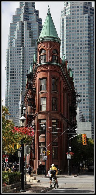 Flat-iron building in Toronto, Canada