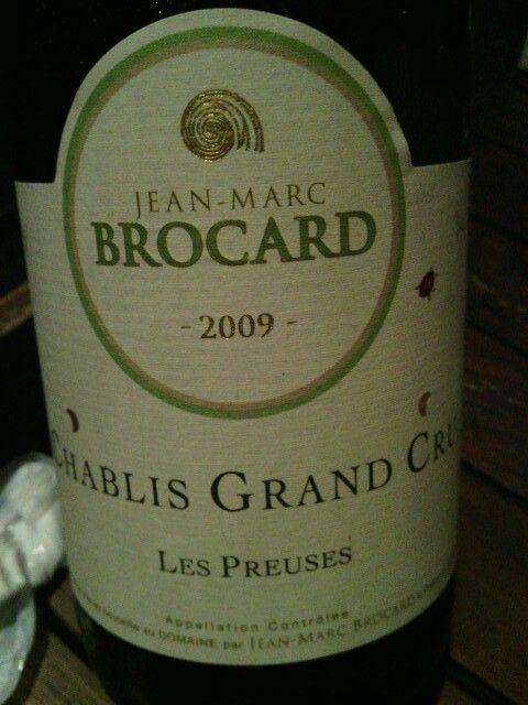 Chablis Grand cru Les Preuses 2009.Jean-Marc Brocard.Bourgogne,France.*****Lemon